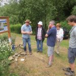 Owen Green at the Lye Valley Open Day in Oxford on June 25th, demonstrating local Corallian fossils.